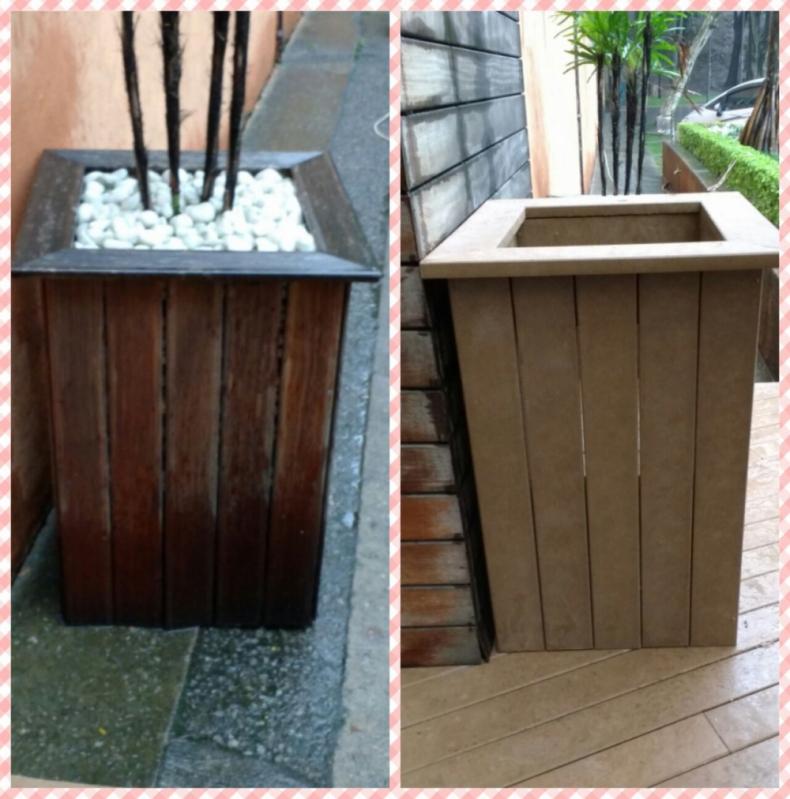 Lixeira em Madeira em Itatiba - Lixeira de Madeira Plástica para Jardim