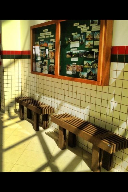 Adesivo Para Box De Banheiro ~ Banco de Madeira para Empresa Rewood