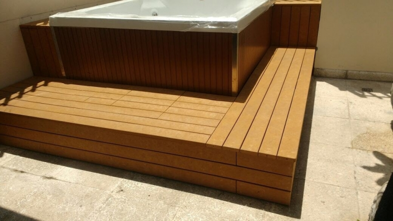 Onde Encontrar Piso Deck de Madeira Plástica para Spa Jardim Iguatemi - Deck para Spa em SP