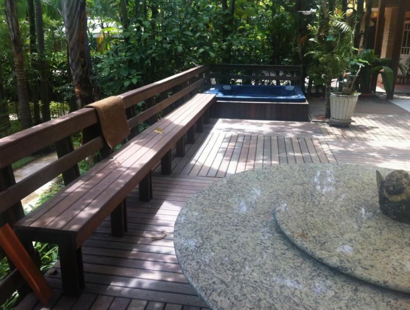 Piso Deck de Madeira para Spa Sacomã - Deck para Spa em SP