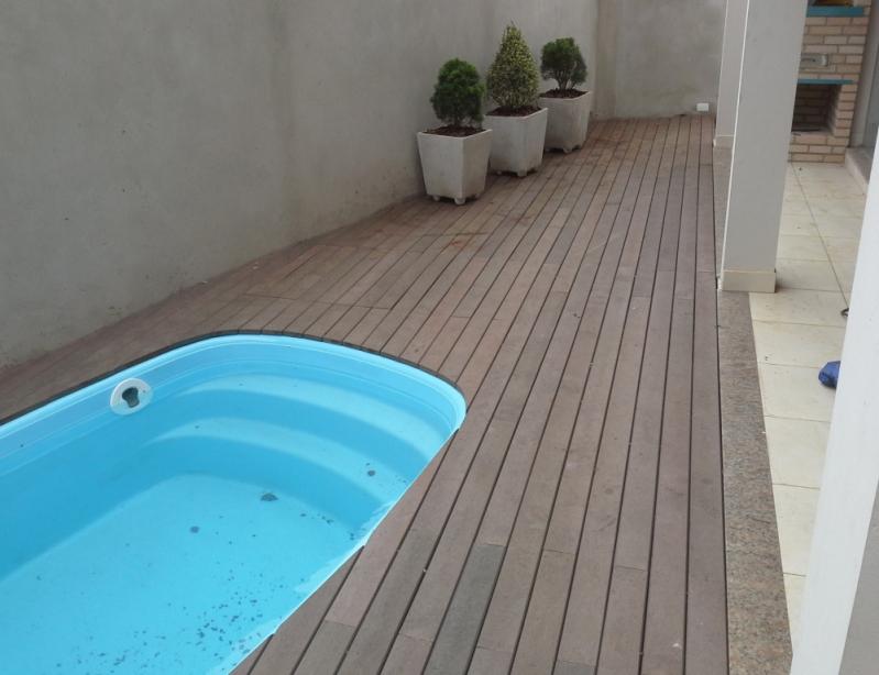 Piso Deck de Madeira Preço na Vila Ré - Piso Deck Estilo Madeira