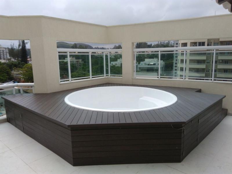 Pisos Deck de Madeiras Plásticas para Spa Morro Grande - Deck para Spa em SP