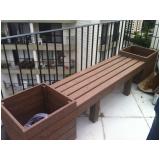 banco de jardim imitando madeira preço Taboão