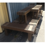 banco de madeira para mesa preço em Amparo