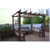 banco de madeira para varanda preço Suzano