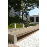 banco de madeira plástica de praça preço Jaguaré