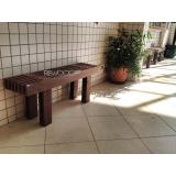 bancos de jardins de madeiras plásticas em Pirituba