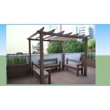 bancos de jardins madeiras ecológicas plásticas Morro Grande