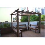 bancos de madeiras para jardins Jardim Fortaleza