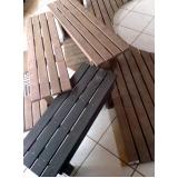 banco de madeira plástica em SP