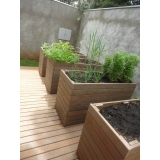 cachepô de madeira reciclável preço Jardim São Luiz