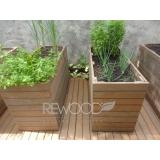 cachepot de madeira reciclável