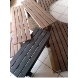 cadeira e mesa de madeira plástica preço em Tatuapé