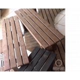 cadeira e mesa de madeira plástica