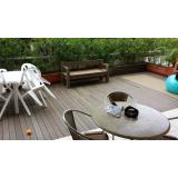 deck de madeira base plástica Jardim Europa