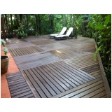 deck de madeira modular Jockey Club