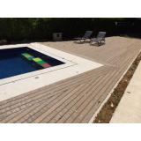 deck de madeira para piscina de plástico Francisco Morato