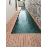 deck de madeira para piscina preço CECAP