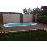 deck de madeira para piscina redonda preço Tanque Grande