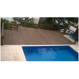 deck de madeira para piscina na Santa Cecília