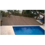 deck de madeira para piscina na Sé