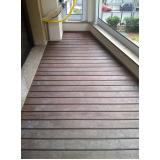 deck de madeira para quarto em Americana
