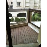 deck de madeira para varanda de apartamento preço Parque São Domingos