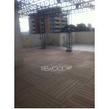 deck de madeira plástica modular preço Condomínio Veigas