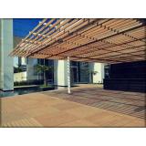 deck de madeira plástica modular Jardim Aracília