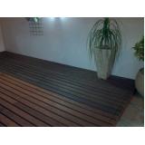 deck de madeira plástica para apartamento em Belém