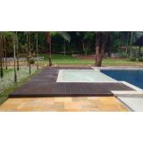 deck de madeira plástica para piscina preço Jardim Fortaleza
