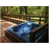 deck de madeira plástica para sauna preço em São Luís