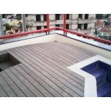 deck de madeira plástica WPC na Vila Gustavo