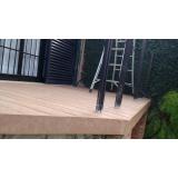 deck de madeira sintética WPC preço na Ponte Grande
