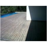 deck de madeira vertical em Alphaville