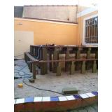 deck de madeiras estrutura Jardim São Luiz