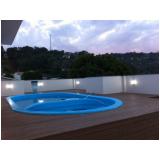 deck de madeiras para piscinas redonda na Vila Galvão