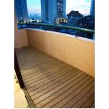 deck de madeiras para quarto em Araçatuba