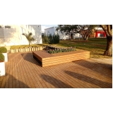 deck de madeiras para sala Jardim Aracília