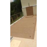 deck de madeiras plásticas em SP no Brás