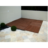 deck de madeiras plásticas para apartamentos na Cidade Ademar