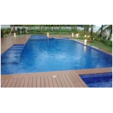 deck de madeiras plásticas para piscinas na Água Branca