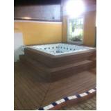 deck de madeiras plásticas para spa Sacomã