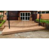 deck de madeiras plásticas WPC em Aeroporto