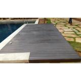 deck de plástico imitando madeira preço na Vila Galvão