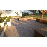 deck de plástico madeira ecológica em Itu