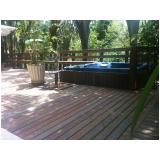 deck de plástico para jardim preço em Mendonça