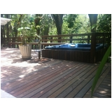 deck de plástico para jardim preço Jardim Paulista