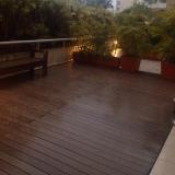 deck de plástico tipo madeira preço Jardim Europa