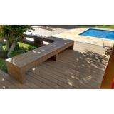 deck de PVC para jardim Tanque Grande